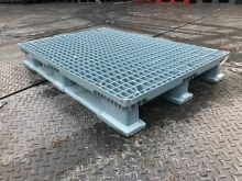 Used plastic pallet 1200 x 800 mm light blue
