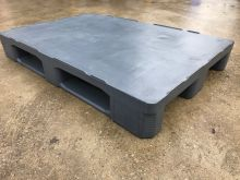Hygienic pallet 1200x800x155mm (Grey) Completely closed